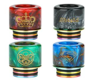 drip tip 810 resine shield cig couleurs