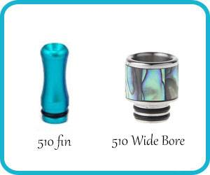drip tip 510 et wide bore