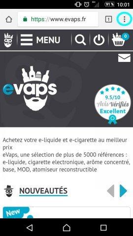 application cigarette electronique