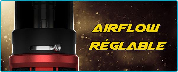 Réglage debit air kit pod argus pro voopoo