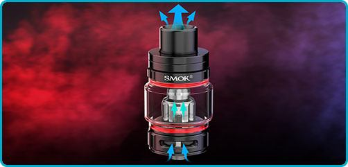 airflow clearomiseur smok tfv9 kit rigel