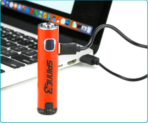 Batterie Vapros spinner 3 cable usb