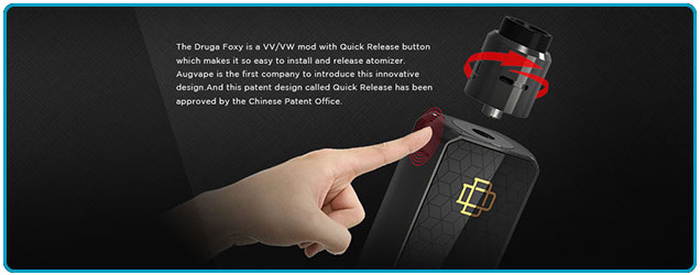 mod druga foxy 150w augvape bouton release