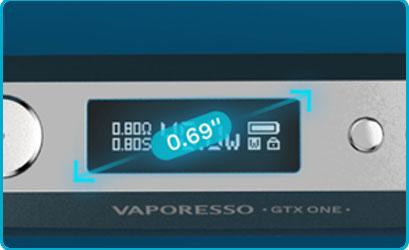 Mod vaporesso gtx one ecran