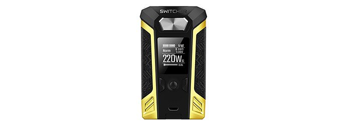box switcher 220 w vaporesso jaune