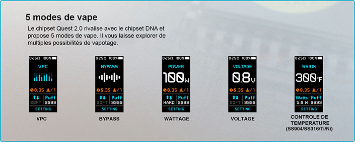 lost vape thelema quest  ww voltage temperature