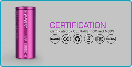 certification efest imr 26650