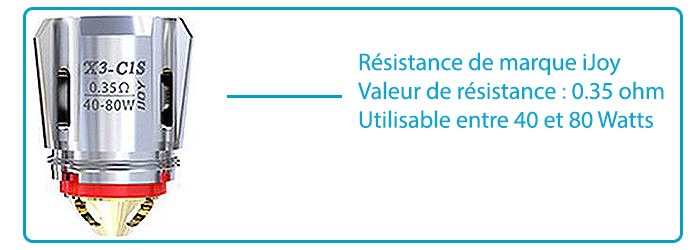 résistance cigarette électronique