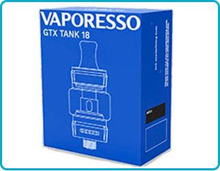Clearomiseur gtx tank 18 vaporesso contenu