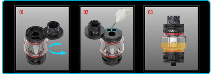 Clearomioseur tfv18 remplissage smoktech