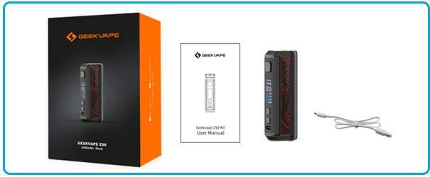 achat coffret box geekvape z50