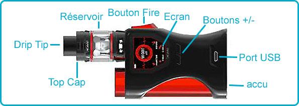description kit s-barrel smok