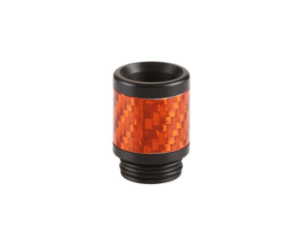 drip tip 810 en resine carbone orange