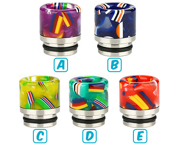 drip tip 810 resine national flag couleurs