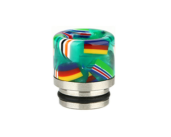 drip tip 810 resine national flag turquoise