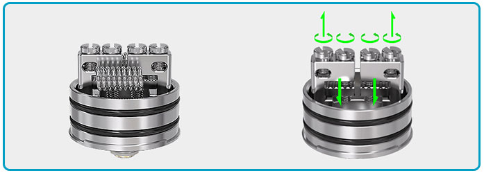 Kit Vandy Vape Bonza RDA double coils
