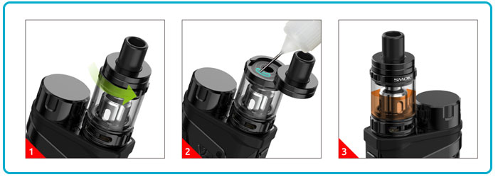 mettre e liquide kit scar mini clearomiseur tfv9 mini smoktech