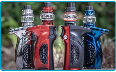 kit smoktech mag grip 100w tc noir rouge bleu chrome prism