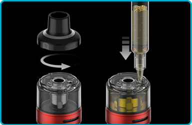 remplir reservoir kit gtx go 40 et 80 vaporesso