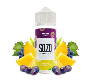 e liquide 100ml grape pineapple SQZD