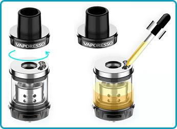 Manuel d'utilisation luxe nano 80w vaporesso skrr mini remplissage