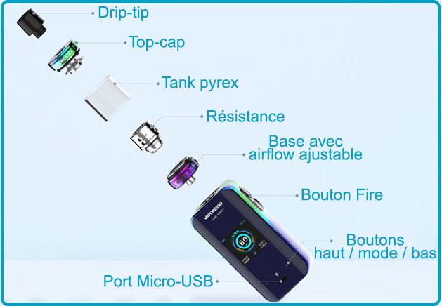 Manuel d'utilisation luxe nano 80w vaporesso skrr mini