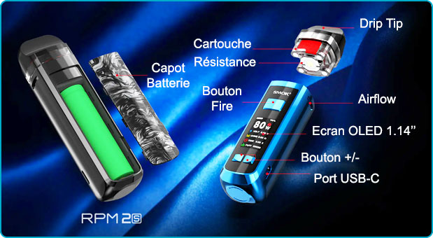 pod rpm 2s smok mode d'emploi