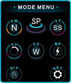 mode d'emploi kit luxe s 220w menu mode
