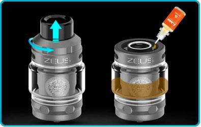 remplir e liquide kit obelisk geekvape 120 fc z