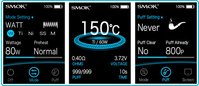 guide d'utilisation smoktech x-priv baby