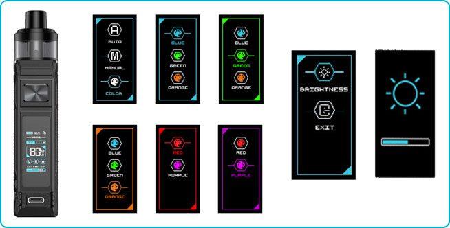 pod bp80 réglage écran