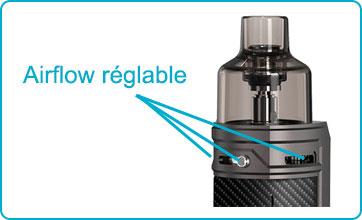régler airflow pod drag x