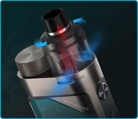 régler airflow kit pod swag px80 vaporesso