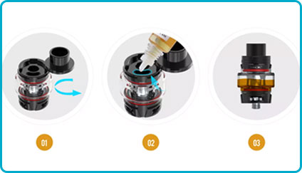 comment remplir le tfv8 baby v2 smok