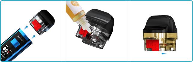 remplir réservoir pod rpm 2s smok