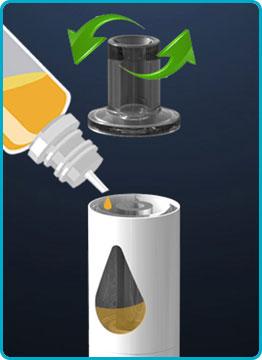 remplir e liquide jem pen innokin