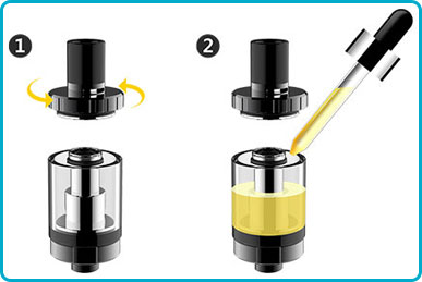 remplir e liquide clearomisuer drizzle vaporesso