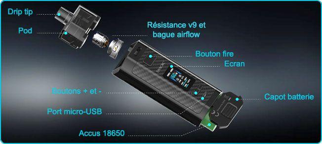 due detaillee smok rpm 160 v9