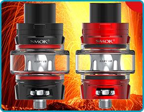 clearo tfv8 baby v2 noir rouge smok