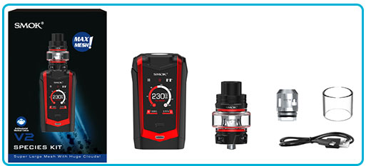 contenu coffret smoktech kit species