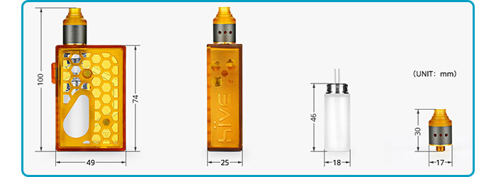 kit hive squonk dimensions