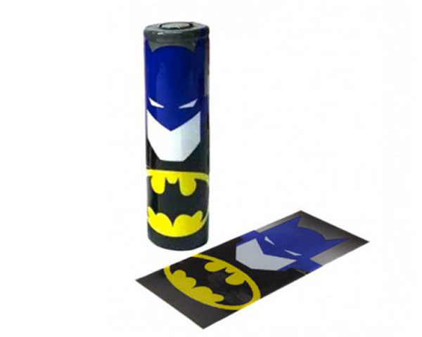 Wrap accu 18650 batman thermoretractable